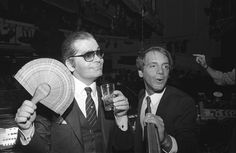 1983 - Karl Lagerfeld & Steve Rubell at Studio 54 by Dustin Pittman