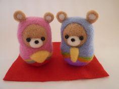 羊毛フェルト クマのひな人形  | iichi(いいち)| ハンドメイド・クラフト・手仕事品の販売・購入