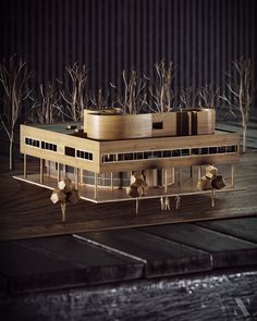 Model miniature version of Villa Savoye by Charles - Edouard Jeanneret - Gris, visualization by . Architecture Cool, Architecture Student, Contemporary Architecture, Villa Savoye, Destinations, Sweet Home, Archi Design, Arch Model, Amazing Spaces