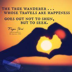The true wanderer, w