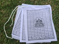 Amazon.com : Buddha of Compassion Tibetan Prayer Flags Solid White Color From Nepal Set of 10 Flags : Everything Else