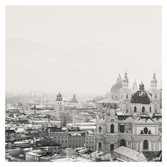 salzburg photograph, black and white photograph, austria, church, cathedral, spire, winter, white snow, snow photograph, architecture on Etsy, 238:26 kr