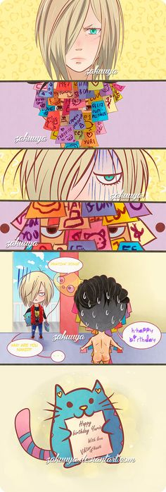 Happy birthday Yurio by Zakuuya.deviantart.com on@DeviantArt  Yuri Plisetsky & Otabek Altin [ otayuri ] from Yuri on Ice anime