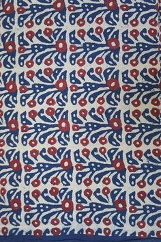 Dabu & Rapid Hand Block Printed Cotton Fabric