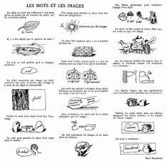 Les mots et les images - René Magritte