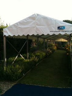 covered walkway into the marquee