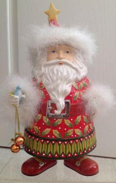 KRINGLES SANTA COOKIE JAR, Christmas Dept. 56, Patrice Brewster Collectible