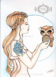 A Word To The Wise - Original Owl Art - by concettasdesigns on Etsy, $70.00