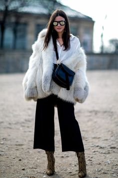 Pin for Later: 50 Styling Lessons to Steal From Fashion Month's Best Dressed Show off boots with cropped trousers.