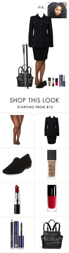 """""""Aoife's black suit"""" by shulabond on Polyvore featuring Nubian Skin, Chanel, Vince, NARS Cosmetics, Bobbi Brown Cosmetics, Guerlain, Estée Lauder and Givenchy"""