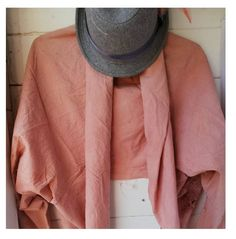 Handmade kimono naturally dyed with Avocado stones. Natural Dyeing, Textile Artists, Vintage Fabrics, Hand Stitching, Avocado, Kimono, Stones, Textiles, Pink