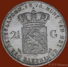 2½ Gulden 1870 - Hele mooie kwaliteit Money Paper, Old Money, European History, Historical Architecture, Precious Metals, Netherlands, Holland, Memories, Vintage