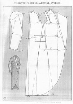 Fashionable Double Breasted Wrap. This single-button pattern is most often applied to opera coats. Mid to late #1910s #patterninlink