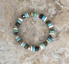 Turquoise & Bone Bracelet
