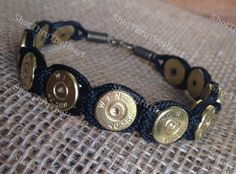 Paracord and 40 Caliber Bullet Bracelet for Men or Women - pinned by pin4etsy.com