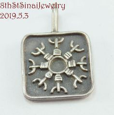Estate S Drag? Sterling Silver 925 Square The Helm of Awe Norse Amulet Pendant Michael Kors Watch, Sterling Silver Jewelry, Im Not Perfect, Pendants, Facebook, Twitter, Accessories, Ebay, Instagram