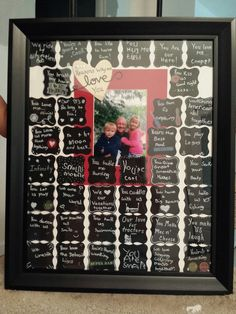 "40th Birthday gift....""40 reasons why we love you"", written in the kids own handwriting. 8/2014"