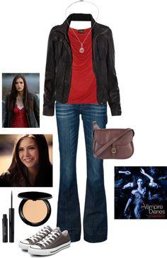 """Elena: Pilot"" by rainwashesaway on Polyvore"