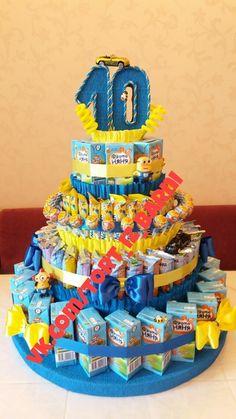 Candy Birthday Cakes, Birthday Treats, Diy Birthday, Food Bouquet, Candy Bouquet, Chocolate Diy, Chocolate Bouquet, 10th Birthday Invitation, Birthday Gifts For Boyfriend Diy