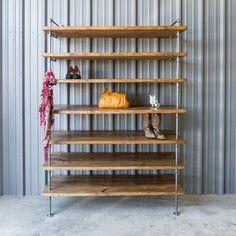 Industrial Closet Pipe Shelving, Shoe Shelves by Trevor Zandt