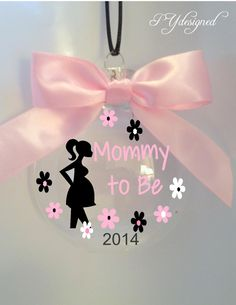Mommy to Be Christmas Ornament for Pregnant Mother to Be Expecting a Baby by PYdesigned on Etsy