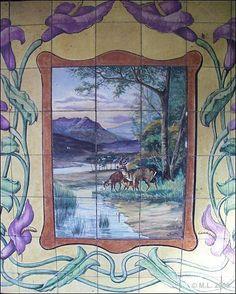 Painel de Azulejo da casa de Major Pessoa - Encontra-se nas traseiras virado…