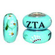#sororitypandoracharms Zeta Tau Alpha Pandora Charms and beads