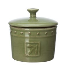 Signature Housewares Sorrento Collection 5-Ounce Stoneware Spice Jar, Green Antiqued Finish by Signature Housewares. $4.99. Durable stoneware with decorative edges and rustic antiqued glazed finish. Silicone ring on lid seals in freshness. Safe for use in the microwave, dishwasher. Constructed of glazed stoneware - a dense, strong, and durable ceramic; will not absorb food odors or flavors; dishwasher safe. Store spices in this attractive jar from the sorrento collection b...