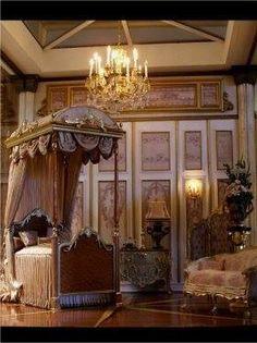 One twelve scale Victorian bed room