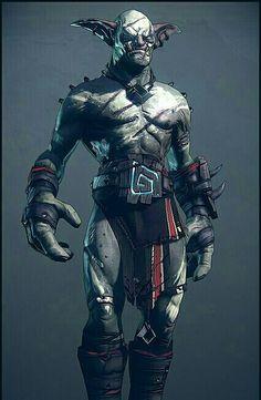 Male Hobgoblin Brawler - Pathfinder PFRPG DND D&D d20 fantasy