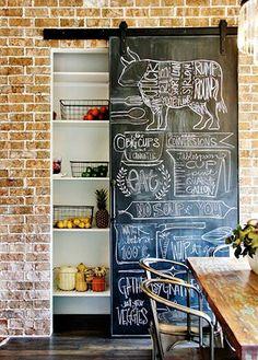 10 hermosas ideas para usar pintura de pizarrón en la cocina