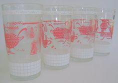 Vintage drinking glasses.