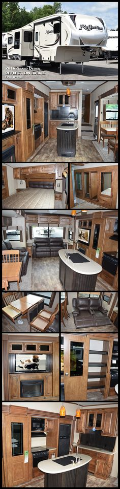 Kelci LeBlanc Camper design This Grand Design REFLECTION mid-sized fifth wheel is […] Homes On Wheels with slide outs 5th Wheel Camper, Fifth Wheel Campers, Fifth Wheel Trailers, Rv Trailers, Trailers For Sale, Camping Trailers, Travel Trailers, Motorhomes For Sale, Class A Motorhomes