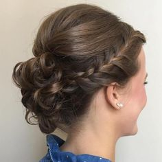 Creative Updo Ideas for Short Hair Headband Braid And Bun Updo, 60 Creative Updo Ideas for Short Hair Headband Braid And Bun Updo, 60 Creative Updo Ideas for Short Hair Headband Braid And Bun Updo, 18 best braided wedding hairstyles we love page 50 Curly Bun, Braids For Short Hair, Cute Hairstyles For Short Hair, Trending Hairstyles, Short Curly Hair, Short Hair Cuts, Braided Hairstyles, Curly Hair Styles, Updos For Shorter Hair