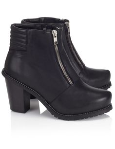 Black Leather Le Baron Boots Surface to Air