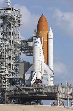 Space Shuttle Atlantis on Mobile Launch Platform, - Whirlpool Galaxy-Andromeda Galaxy-Black Holes