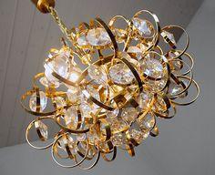 PALWA SPUTNIK CHANDELIER Gold Plated Crystal Pendant by muromant