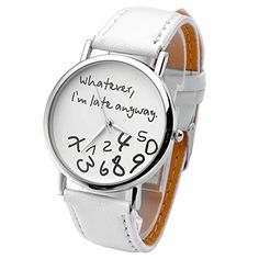 Top Plaza Women's Fashion Simple Watch, Round Case, White Top Plaza