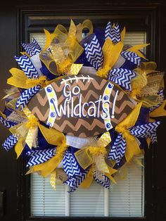 Custom football wreath by Glitzy wreaths