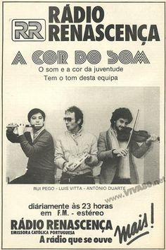 A COR DO SOM (Radio Renascença FM) http://viva80.pt/