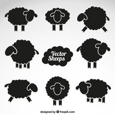 Animal Silhouette Vectors, Photos and PSD files Sheep Silhouette, Animal Silhouette, Silhouette Vector, Silhouette Design, Silhouette Cameo, Shaun The Sheep, Sheep And Lamb, Black Sheep Tattoo, Noir Tattoo