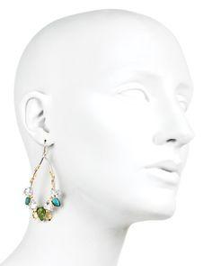 Alexis Bittar Olmeca Turquoise Two Tone Teardrop Earrings   Bloomingdale's