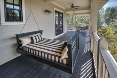 This hanging bed shows you just how you should enjoy the Florida outdoors in WaterColor, FL!