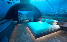 Forget Overwater Bungalows — an Underwater Villa Is Opening in the Maldives | On Tuesday, Conrad Maldives Rangali Island announced that it will finish work on what it claims will be the world's first undersea residence of its kind by the end of 2018.