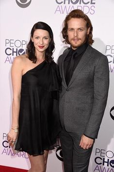 #OutlanderPCA @SamHeughan and @caitrionambalfe @peopleschoice  (Getty)