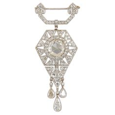 Magnificent CARTIER Paris Belle Epoque Diamond Corsage Brooch, c 1915