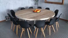 Ronde tafel Round Dining Table, Dining Room Table, Wood Table, Home Furniture, Living Room Decor, Interior Design, Home Decor, Inspiration, Stage