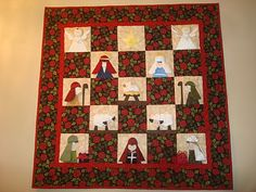 Some day I'm going to make this!  Nativity Quilt