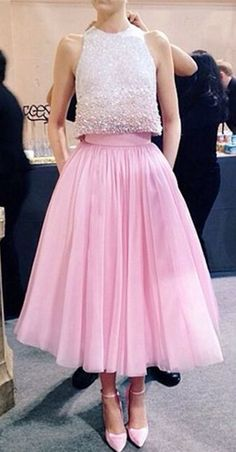 New Arrival Prom Dress,Beautiful two pieces short prom