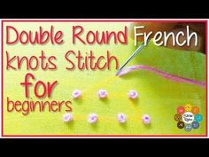 Ribbon Embroidery For Beginners french knots embroidery designs French Knot Embroidery, Learn Embroidery, Silk Ribbon Embroidery, Embroidery For Beginners, Hand Embroidery Patterns, Embroidery Kits, Embroidery Stitches, Floral Embroidery, Modern Embroidery